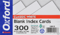Oxford® Blank Index Cards - 300 Pack - White - 3 x 5 in