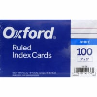 Oxford® Ruled Index Cards - 100 pk - White