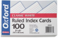 Oxford® Ruled Index Cards - 100 Pack - White - 5 x 8 in