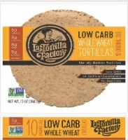 La Tortilla Factory Low Carb Whole Wheat Tortilla Factorys 10 Count