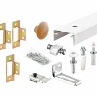 Prime-Line Track Kit,Bi-Fold Door,Steel,White - 1