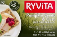Ryvita Rye Crispbread - Pumpkin Seeds & Oats - 5 ct / 1.48 oz