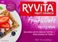 Ryvita Fruit Crunch Fruit & Oats Rye Crispbread - 7 oz