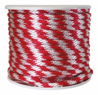 Wellington 5/8 in. Dia. x 200 ft. L Red/White Solid Braided Poly Derby Rope - Case Of: 1; - Count of: 1