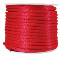 Wellington 5/8 in. Dia. x 200 ft. L Red Solid Braided Poly Derby Rope - Case Of: 1; Each Pack - Case of: 200