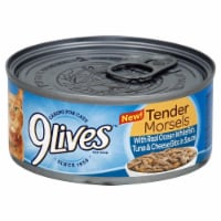 9Lives Tender Morsels with Ocean Whitefish Tuna & Cheese Bits Wet Cat Food