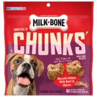Milk-Bone Chock Full of Chunks Beef & Bacon Dog Treats - 12 oz