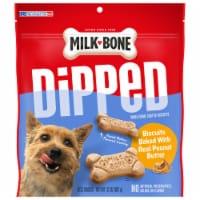 Milk-Bone Dipped Peanut Butter Dog Biscuit Snacks - 32 oz
