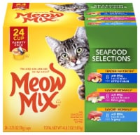 Meow Mix Seafood Selections Wet Cat Food Variety Pack