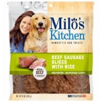 Milo's Kitchen Beef Sausage Slices Dog Treats