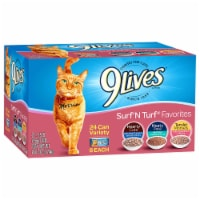 9Lives Surf 'N Turf Favorites Wet Cat Food Variety Pack