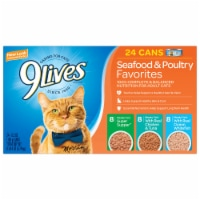 9Lives Seafood & Poultry Moist Cat Food Variety Pack