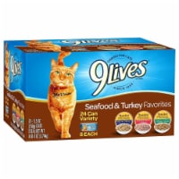 9Lives Seafood & Turkey Favorites Wet Cat Food Variety Pack