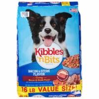 Kibbles 'n Bits Bacon & Steak Flavored Dry Dog Food - 16 lb