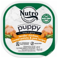 Nutro Puppy Chicken Sweet Potato & Pea Recipe Bites in Gravy Wet Dog Food