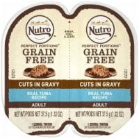 Nutro 79105123105 Perfect Portions Cuts in Gravy Tuna Recipe Cat Food, 24ea & 2.65 oz - 1