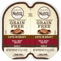 Nutro 79105123112 Perfect Portions Cuts in Gravy Beef Recipe Cat Food, 24ea & 2.65 oz