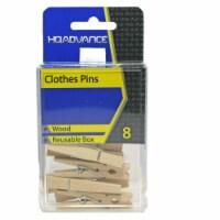 HQ Advance Wooden Clothes Pins - Natural