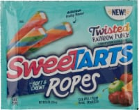 SweetTarts Twisted Rainbow Punch Soft & Chewy Ropes Candy