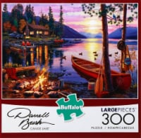 Buffalo Games Darrell Bush Canoe Lake Large Pieces Puzzle