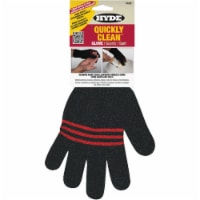 Hyde Unisex Indoor/Outdoor Silicone/Spandex/Synthetic Leather Cleaning Gloves Black One Size