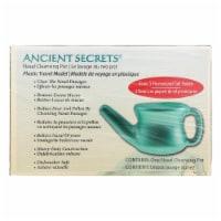 Ancient Secrets Nasal Cleansing Pot Travel Neti Pot