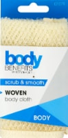 Body Benefits Woven Wash Cloth - Cream