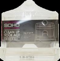 Soho Swab & Go Clear Cotton Swab Dispenser