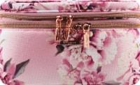 Sophia Joy Floral Double Zip Train Case Makeup Bag
