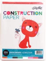 Ucreate Construction Paper - 250 Sheets - Assorted