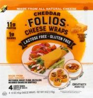 Folios Cheddar Cheese Wraps - 4 ct / 6 oz