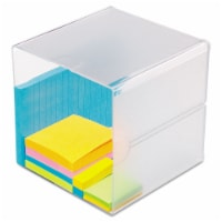 Deflecto Stackable Cube Organizer, 6 X 6 X 6, Clear 350401 - 1
