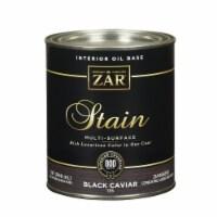 ZAR  Semi-Transparent  Black Caviar  Oil-Based  Polyurethane  Wood Stain  1 qt. - Case Of: 4; - Case of: 4