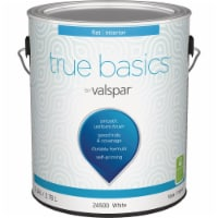True Basics by Valspar Flat Interior Wall Paint, 1 Gal., White 080.0024500.007