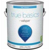 True Basics by Valspar Flat Interior Wall Paint, 1 Gal., Clear Base