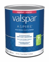 Valspar  Aspire  Eggshell  Pure White  Paint and Primer  Interior  1 qt. - Case Of: 4; - Case of: 4