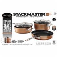 Gotham Steel 6009770 Stackmaster Aluminum Fry Pan Set, Copper