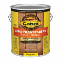 Cabot  Semi-Transparent  Tintable 0306 Neutral Base  Oil-Based  Deck and Siding Stain  1 gal. - Case of: 4