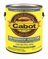 Cabot  Semi-Transparent  Neutral Base  Oil-Based  Acrylic  Siding Stain  1 gal. - Case Of: 4; - Case of: 4