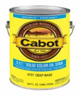 Cabot  O.V.T.  Solid  Tintable 6707 Deep Base  Oil-Based  Stain  1 gal. - Case Of: 4; Each - Case of: 4