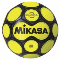 Mikasa Sports 1569087 Size 5 Aura Model Soccer Ball, Black & Neon Yellow