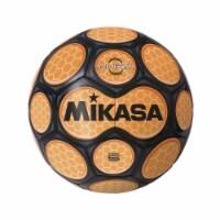 Mikasa Sports 1569083 Size 5 Aura Model Soccer Ball, Black & Neon Orange - 1