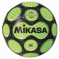Mikasa Sports 1569085 Size 5 Aura Model Soccer Ball, Black & Neon Green