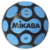 Mikasa Sports 1569081 Size 5 Aura Model Soccer Ball, Black & Neon Blue