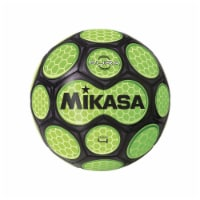 Mikasa Sports 1569086 Size 4 Aura Model Soccer Ball, Black & Neon Green