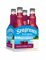 Seagram's Escapes Black Cherry Fizz Malt Beverage - 4 bottles / 11.2 fl oz