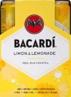 Bacardi Limon & Lemonade Real Rum Cocktails