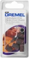 Dremel 0.25-Inch 120-Grit Sanding Bands - 6 Pack