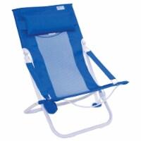 Rio Gear Portable Breeze Hammock Beach Chair w/ Foam Pillow & Cup Holder, Blue - 1 Unit