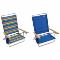 Rio Brands 5 position Adjustable Assorted Beach Folding Chair - Case Of: 4;